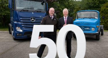 Προϋπηρεσία 50 ετών της Mercedes στην Ιρλανδία