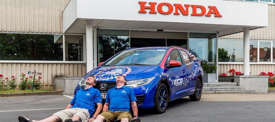 Το Honda Civic Tourer που διένυσε 13.497 χλμ. σε 25 μέρες
