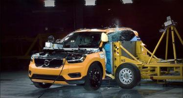 Δείτε το νέο Volvo XC40 σε πλευρική πρόσκρουση (video)