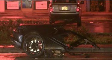 Μια Lamborghini συγκρούστηκε και κόπηκε στη μέση (video)