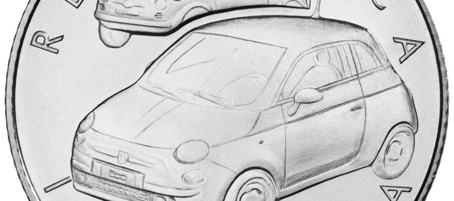 Το Fiat 500 έγινε νόμισμα των 5 ευρώ