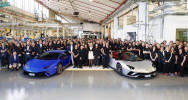 Πόσες Huracan και Aventador έχει κατασκευάσει η Lamborghini;