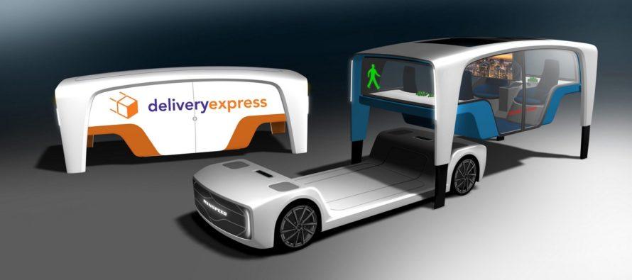 H αποσπώμενη πλατφόρμα Rinspeed Snap Concept