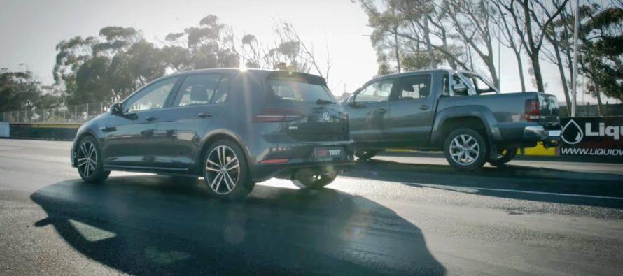 Τα Volkswagen Golf GTD και Amarok κοντράρονται (video)