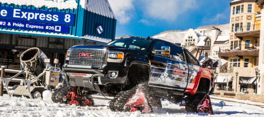 Το GMC Sierra 2500HD καταδρομέας στα χιόνια