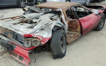 Πωλείται μια καμένη Ferrari 512 BB