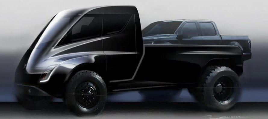 Το επερχόμενο θηριώδες pickup της Tesla