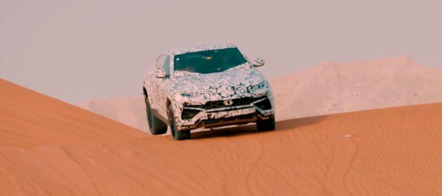 H νέα Lamborghini Urus προκαλεί αμμοθύελλα (video)