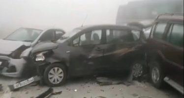 Τοξικό νέφος προκάλεσε καραμπόλα 24 αυτοκινήτων (video)