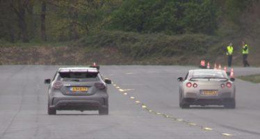 Mercedes-AMG A45 τα βάζει με Nissan GT-R και Audi R8 (video)
