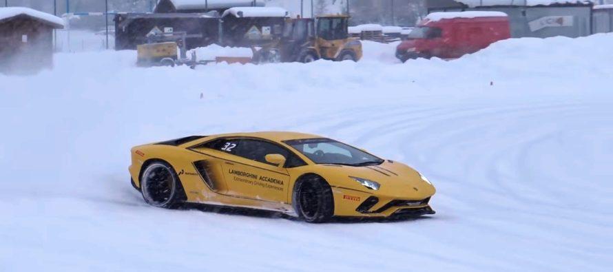 Οι Lamborghini Huracan και Aventador S γλιστρούν στο χιόνι (video)
