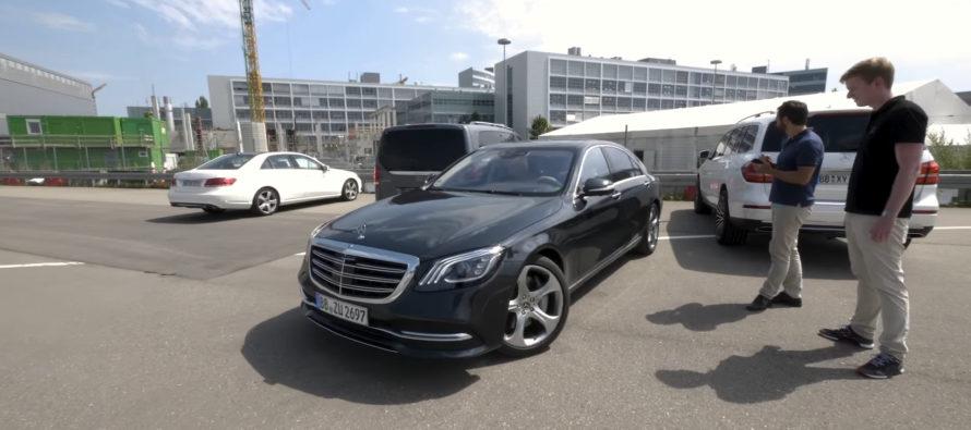 Τηλεκατευθυνόμενο παρκάρισμα της Mercedes S-Class μέσω κινητού τηλεφώνου (video)