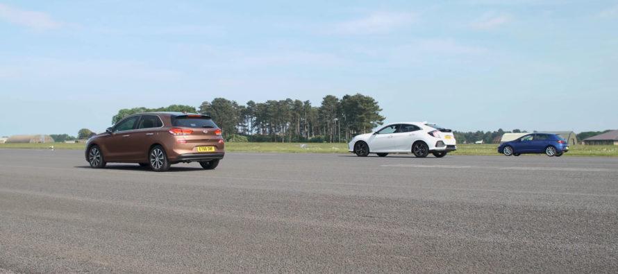 Ταχύτερο το Honda Civic, το SEAT Leon ή το Hyundai i30; (video)