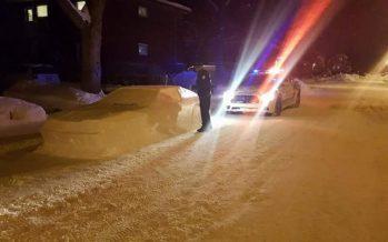 Αυτοκίνητο από χιόνι μπέρδεψε αστυνομικούς