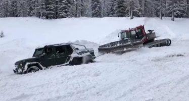 Και όμως μια Mercedes-AMG G63 6×6 κόλλησε στα χιόνια