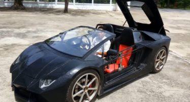 Lamborghini Aventador Roadster με κινητήρα μοτοσικλέτας (video)