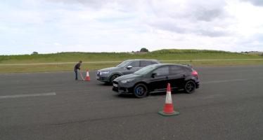 Σκληρή κόντρα ανάμεσα σε Ford Focus RS και Audi SQ7 (video)