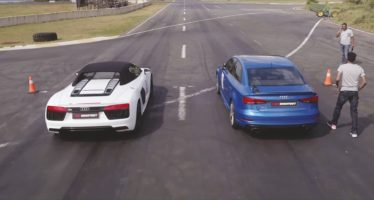 Ενδοοικογενειακή κόντρα για τα Audi RS3 Sedan και R8 V10 Spyder (video)