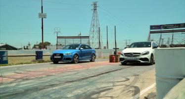 Ευθεία αντιπαράθεση για τα Audi RS3 και Mercedes-AMG A45 (video)