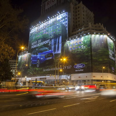 The enormous new Ford EcoSport billboard in Madrid, Spain, is th