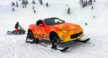 Το Nissan 370Z κάνει σκι στο βουνό (video)