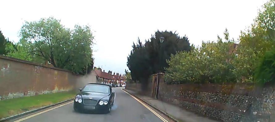 Δείτε τη μετωπική σύγκρουση αυτής της Bentley (video)