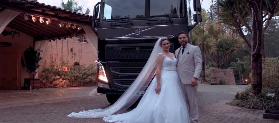 Δώρο γάμου έγινε ένα φορτηγό της Volvo (video)
