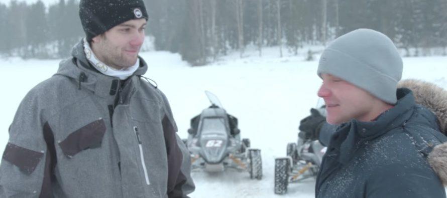 O Βαλερί Μπότας και ο Νίκλας Γκρόνχολμ οδηγούν στο χιόνι (video)