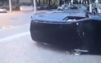 Δείτε πως τούμπαρε αυτό το Volkswagen Golf Variant (video)
