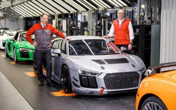 Η Audi κατασκευάζει το R8 μαζί με την αγωνιστική του έκδοση