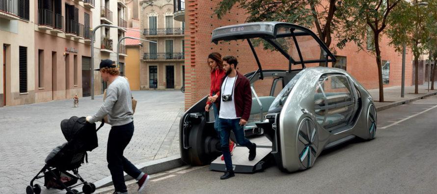 Χωρίς τιμόνι και με καναπέδες το νέο Renault EZ-GO  (video)