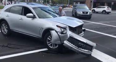 Επεισοδιακή απόπειρα διαφυγής από τροχαίο ατύχημα (video)