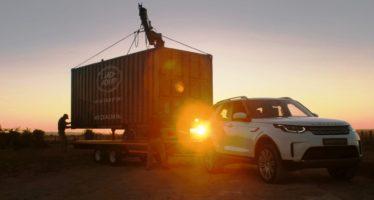 Το Land Rover Discovery ρυμουλκεί ένα μεγάλο δώρο (video)