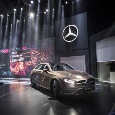 Mercedes-Benz Cars am Vortag der Auto China 2018: Die neue A-Klasse L Limousine feiert Weltpremiere in Peking