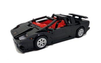 Ακριβέστατο αντίγραφο της Lamborghini Diablo από Lego