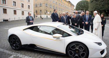 715.000 ευρώ για την Lamborghini Huracan του Πάπα Φραγκίσκου