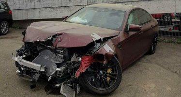 Καταστράφηκε μια BMW M5 αξίας 117.900 ευρώ