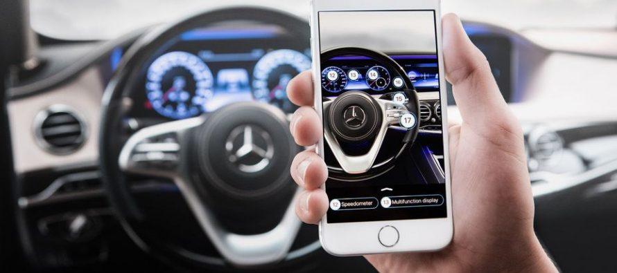 Εφαρμογή της Mercedes αντικαθιστά το εγχειρίδιο χρήσης του οχήματος
