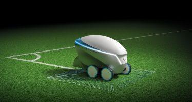 To ρομπότ της Nissan για τη διαγράμμιση ποδοσφαιρικών γηπέδων