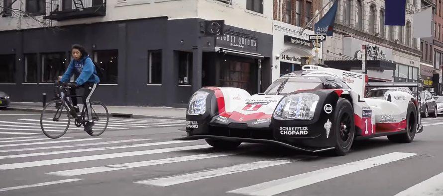 Η αγωνιστική Porsche 919 Hybrid στους δρόμους της Νέας Υόρκης (video)