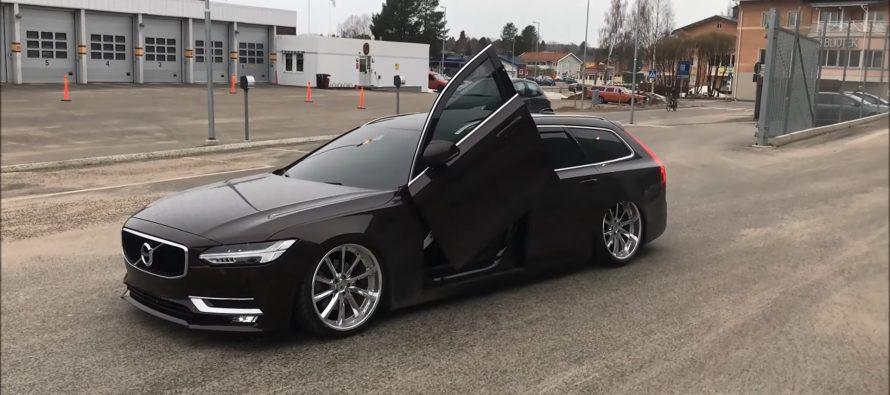 Ένα Volvo V90 με πόρτες που ανοίγουν προς τα επάνω (video)