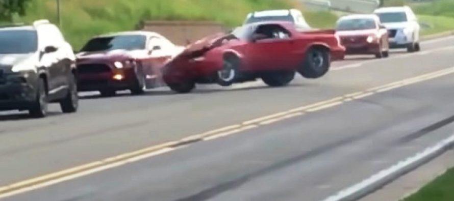 Πήγε να κάνει φιγούρα και έπεσε πάνω σε ένα Ford Μustang (video)