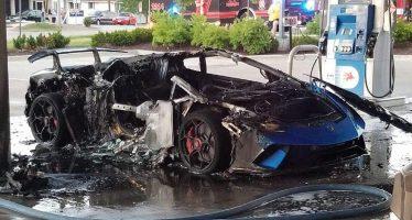 Θύμα πυρκαγιάς μια Lamborghini Huracan Performante