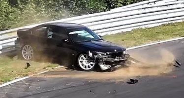 Έτσι κατέληξε αυτή η BMW M3 σε μια στροφή (video)