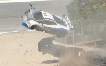 Σφοδρή σύγκρουση αγωνιστικής Lamborghini Huracan (video)
