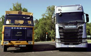Οδηγώντας ένα παλιό και ένα σύγχρονο φορτηγό Scania (video)