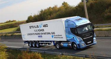 Ρεκόρ αυτονομίας με φυσικό αέριο από το Iveco Stralis NP