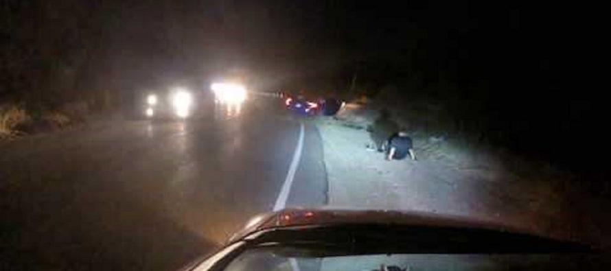 Δείτε ένα Honda Civic να προσπερνά σε στροφή και να ανατρέπεται (video)