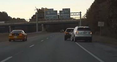 Δείτε ένα Nissan και ένα Ford να καβγαδίζουν (video)