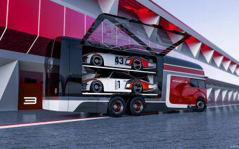 Ένα εντυπωσιακό φορτηγό για τη μεταφορά αγωνιστικών Porsche
